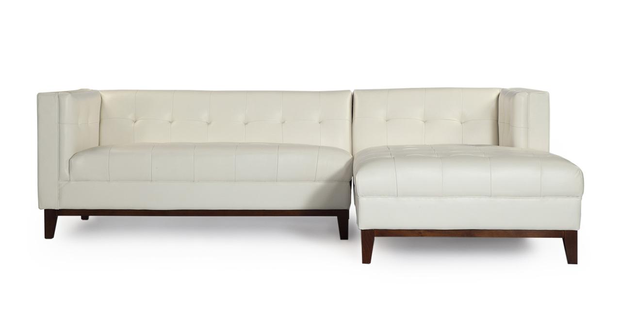 Kardiel Harrison Modern Loft Sofa Chaise Sectional-Right ...