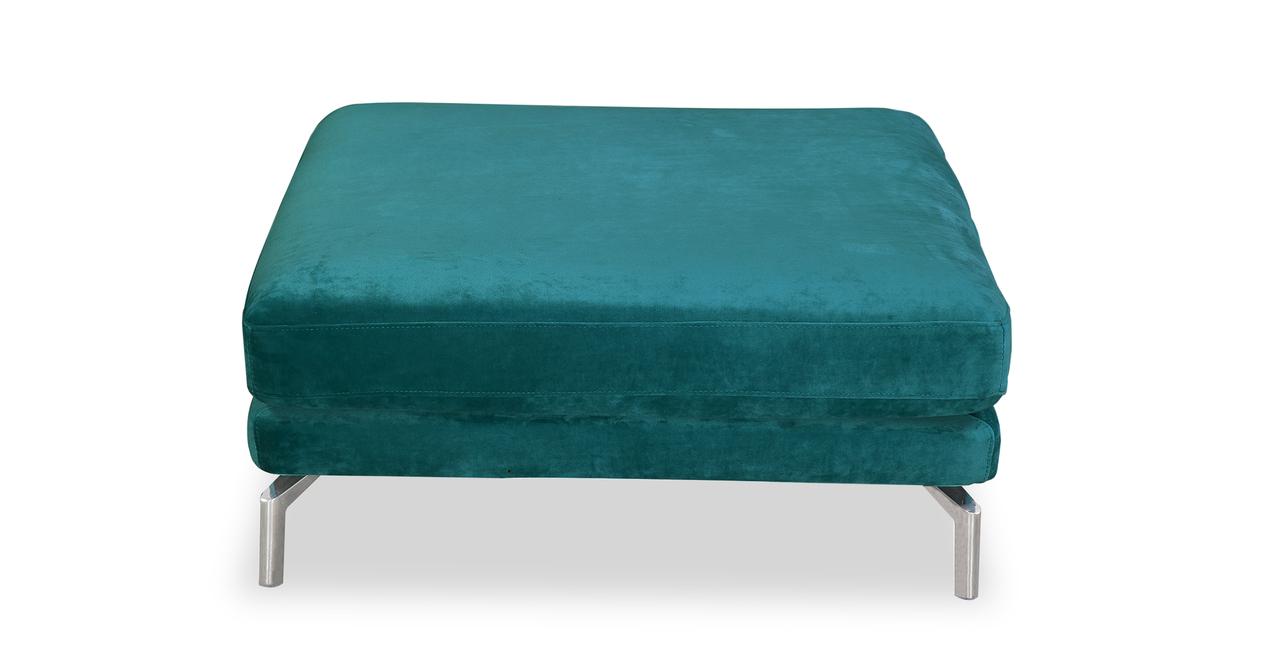 Kardiel Basil Modern Loft Ottoman, Premium Fabric/Stainle...