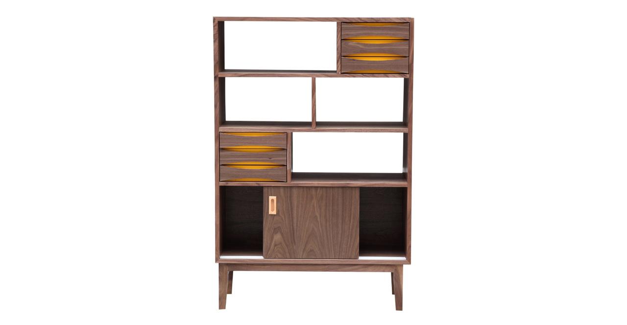 Kardiel Vodder 4-Tier Upright Cabinet, Mid-century Modern...