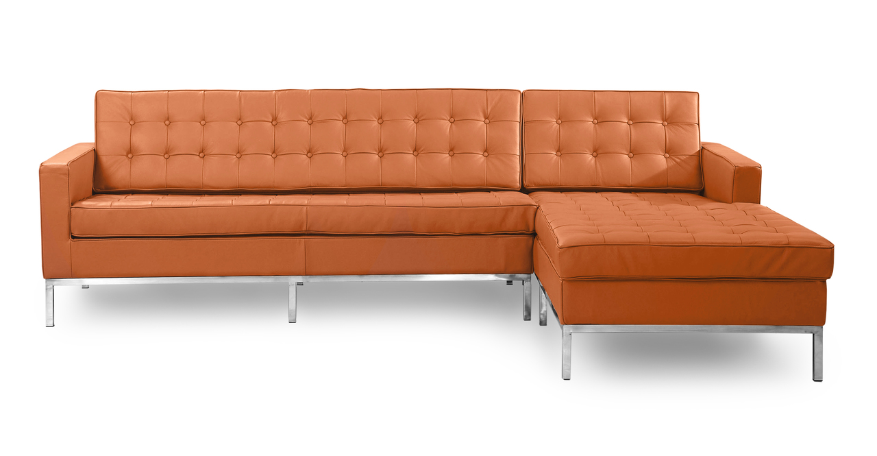 Kardiel Florence Knoll Style Sofa Sectional Right, Luxe C...