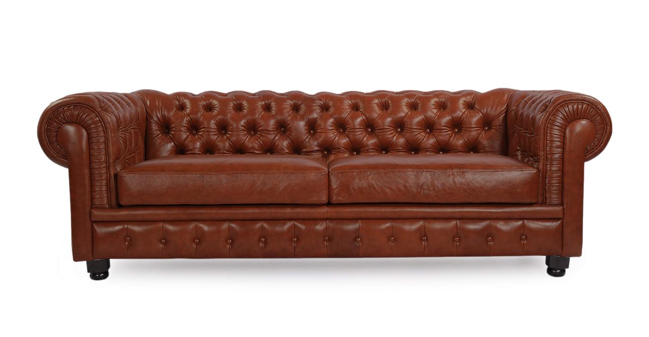 Kardiel Chesterfield Style Modern Vintage Sofa, Bordeaux ...
