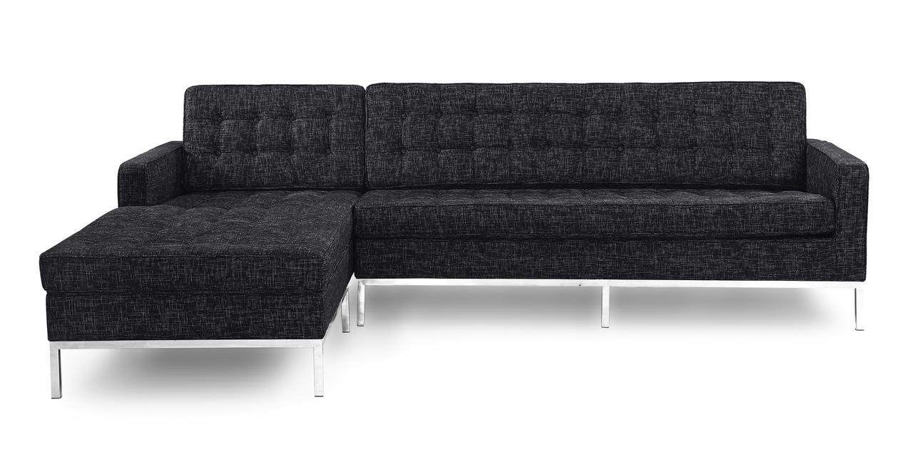 Kardiel Florence Knoll Style Sofa Sectional Left, Graphit...