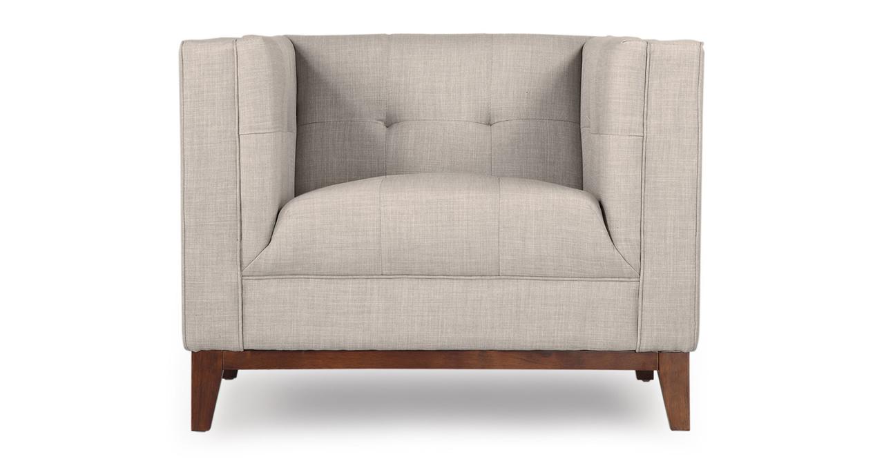 Kardiel Harrison Mid-Century Modern Loft Club Chair, Dove...