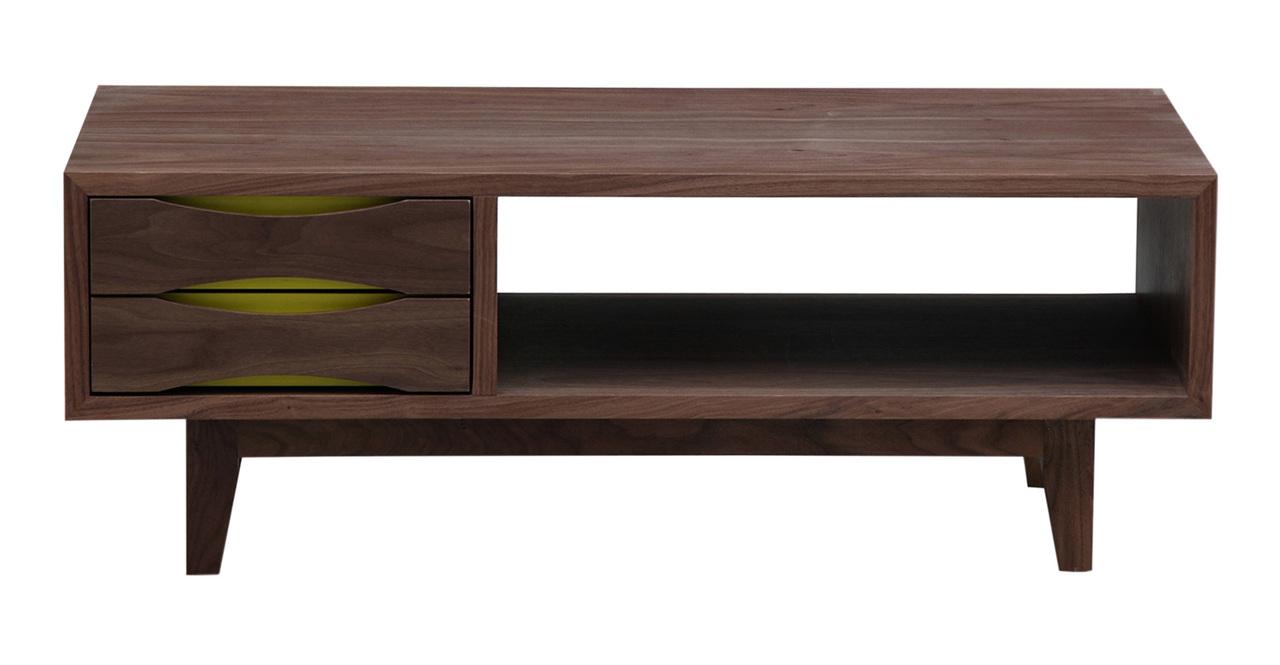 Vodder Moderno Media Tv Cabinet Modern Coffee Table Walnut Wood Ebay