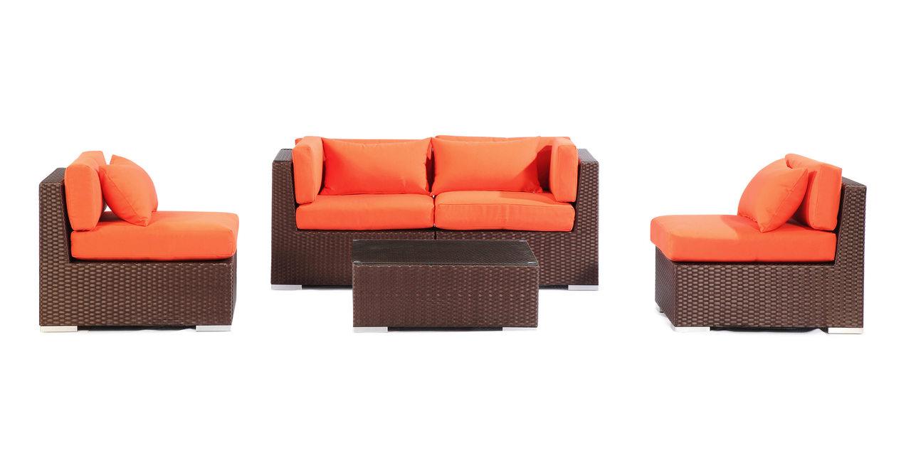 Patio Outdoor Furniture Loveseat/Sofa Modify-It Aloha Kau...