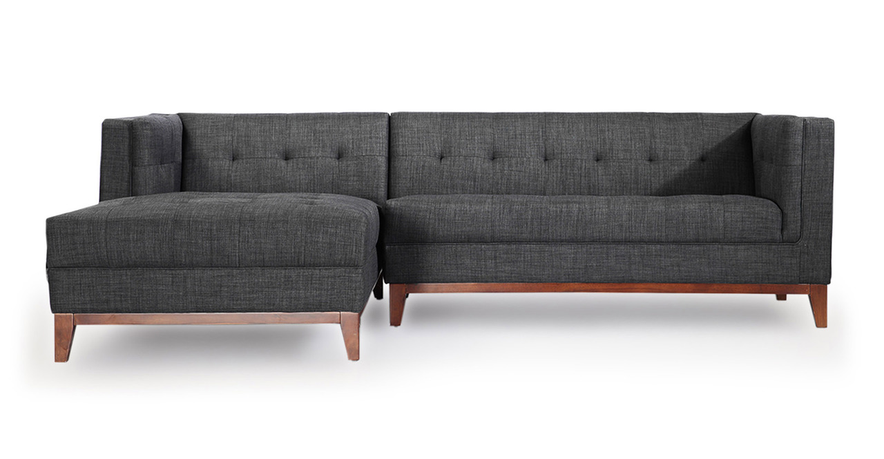 Kardiel Harrison Modern Loft Sofa Chaise Sectional-Left F...