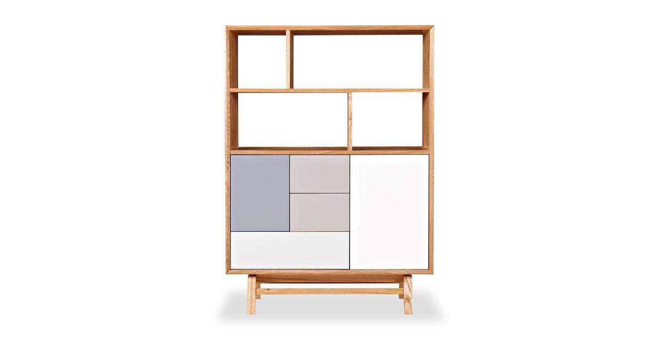 Kardiel Platform Upright Cabinet, Mid-century Modern Book...