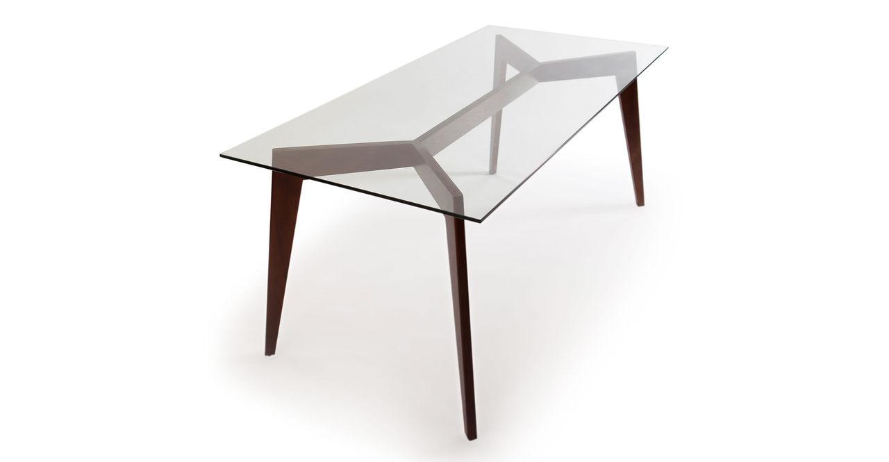 Kardiel Deco Blaze Mid-Century Modern Dining Table, Walnu...