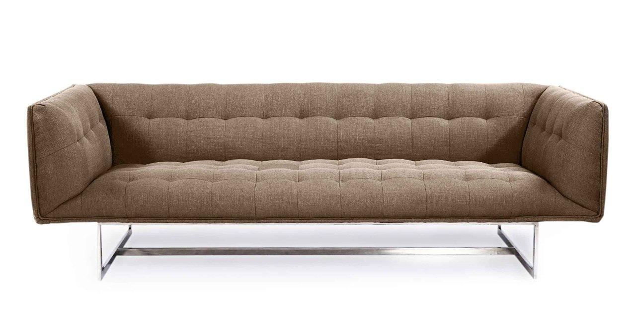 Kardiel Edward Mid-Century Modern Classic Sofa, Klein Gra...