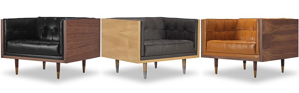 Woodrow Box Mid Century Modern Sofa