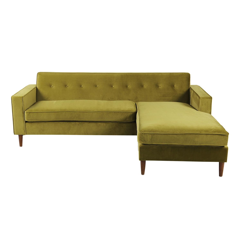 Kardiel Eleanor Mid-Century Modern Bi-Sectional Sofa, Oli...