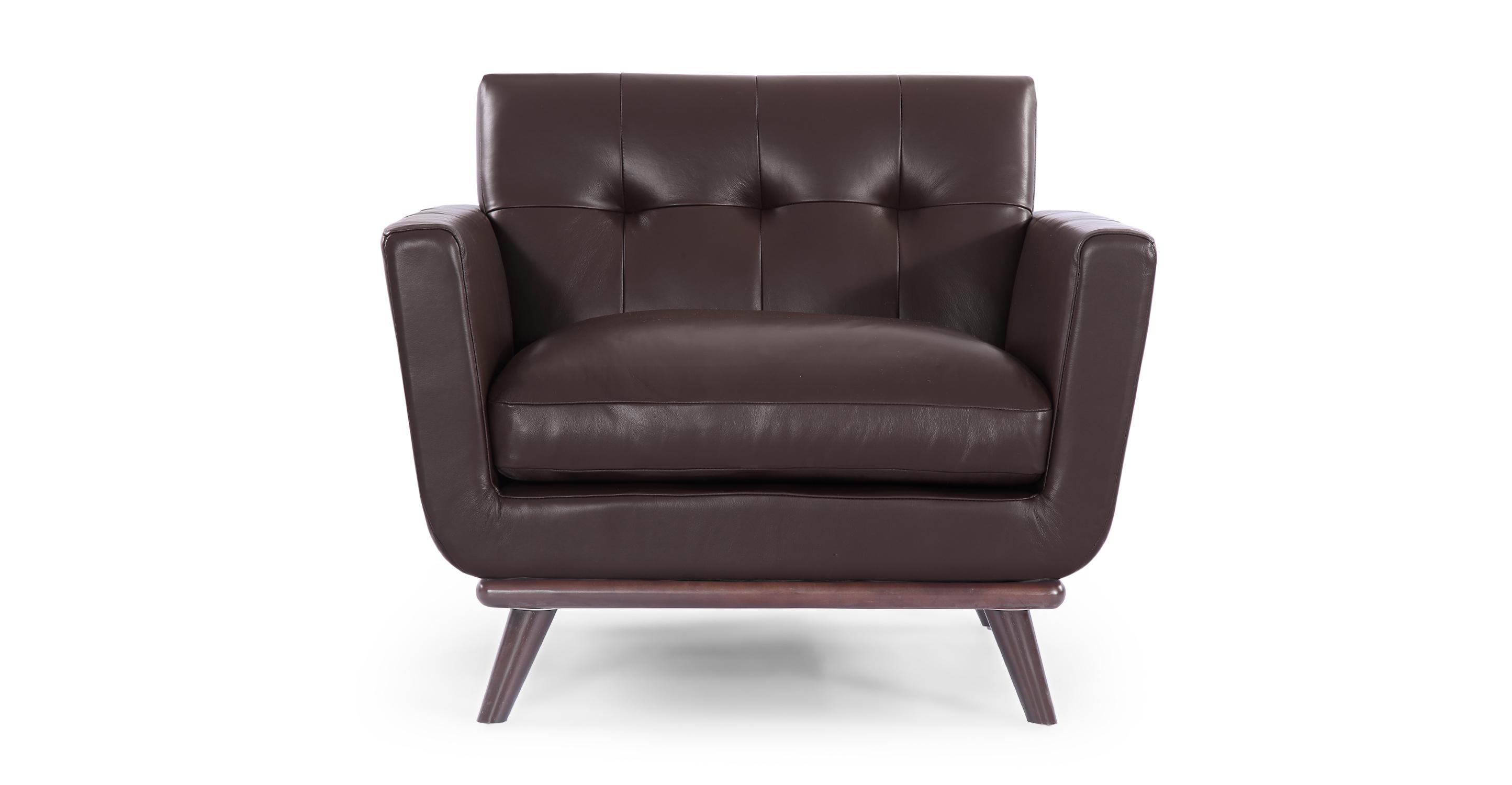 Kardiel Jackie Mid-Century Modern Classic Chair, Deep Bro...