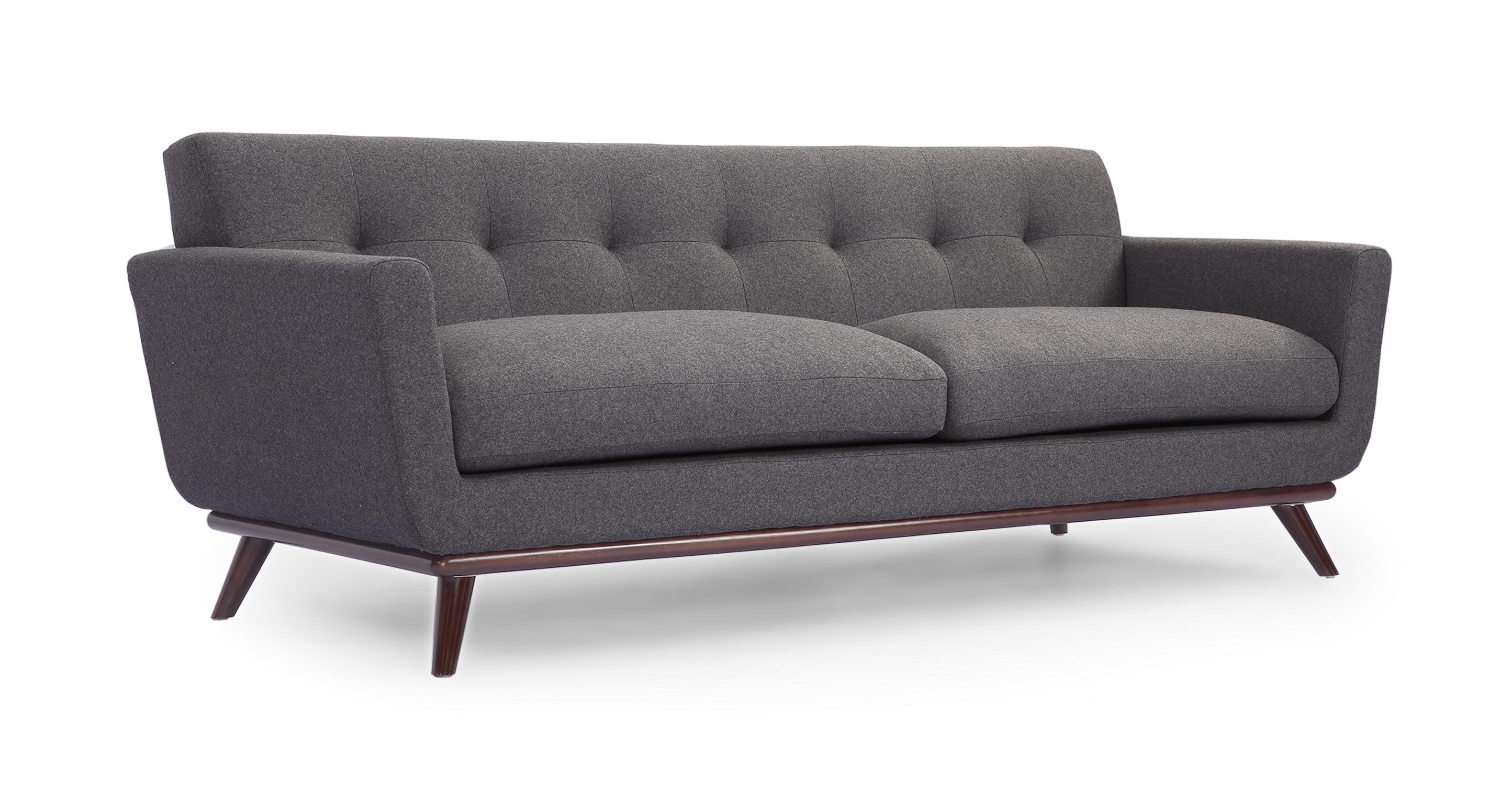 Jackie mid century modern classic sofa cadet grey for Classic sofa