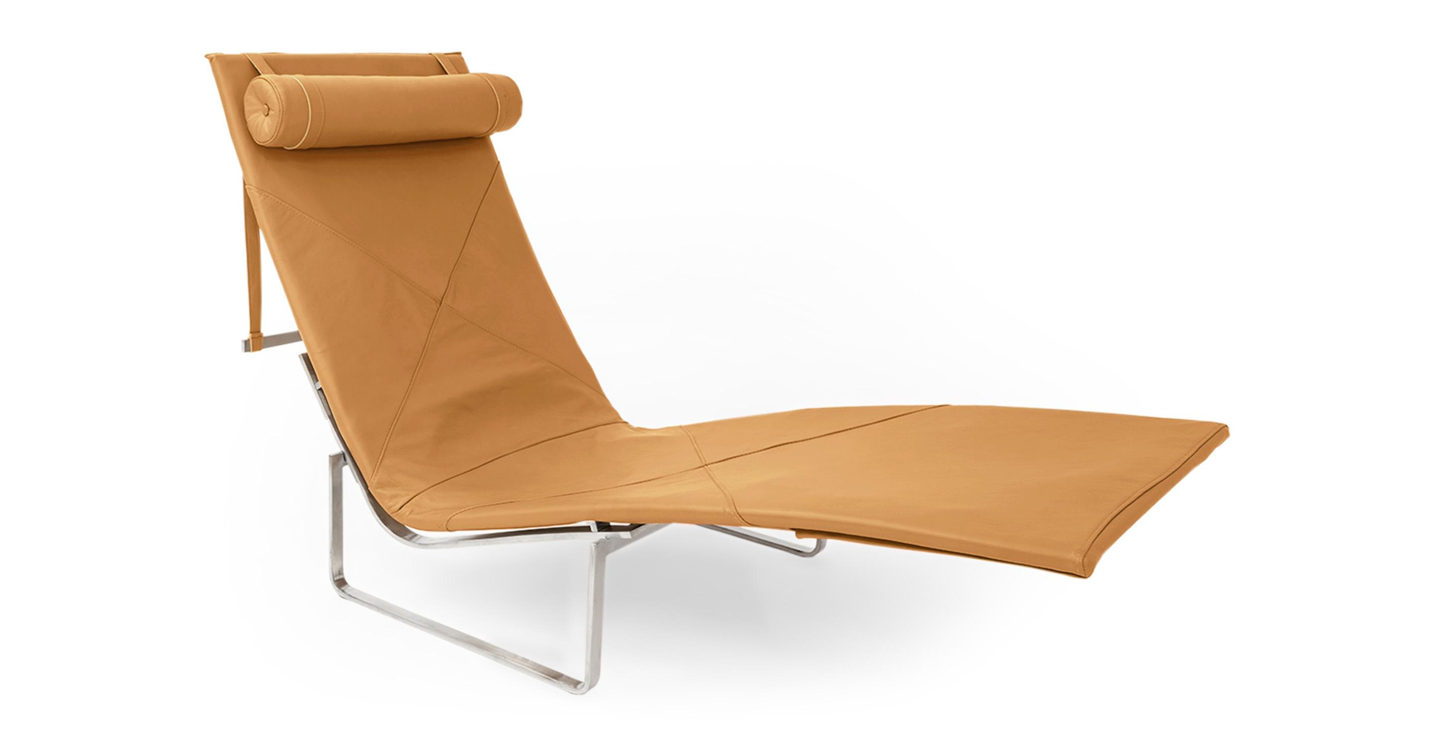 Kardiel PK24 Modern Chaise Lounge Chair, Canyon Aniline L...