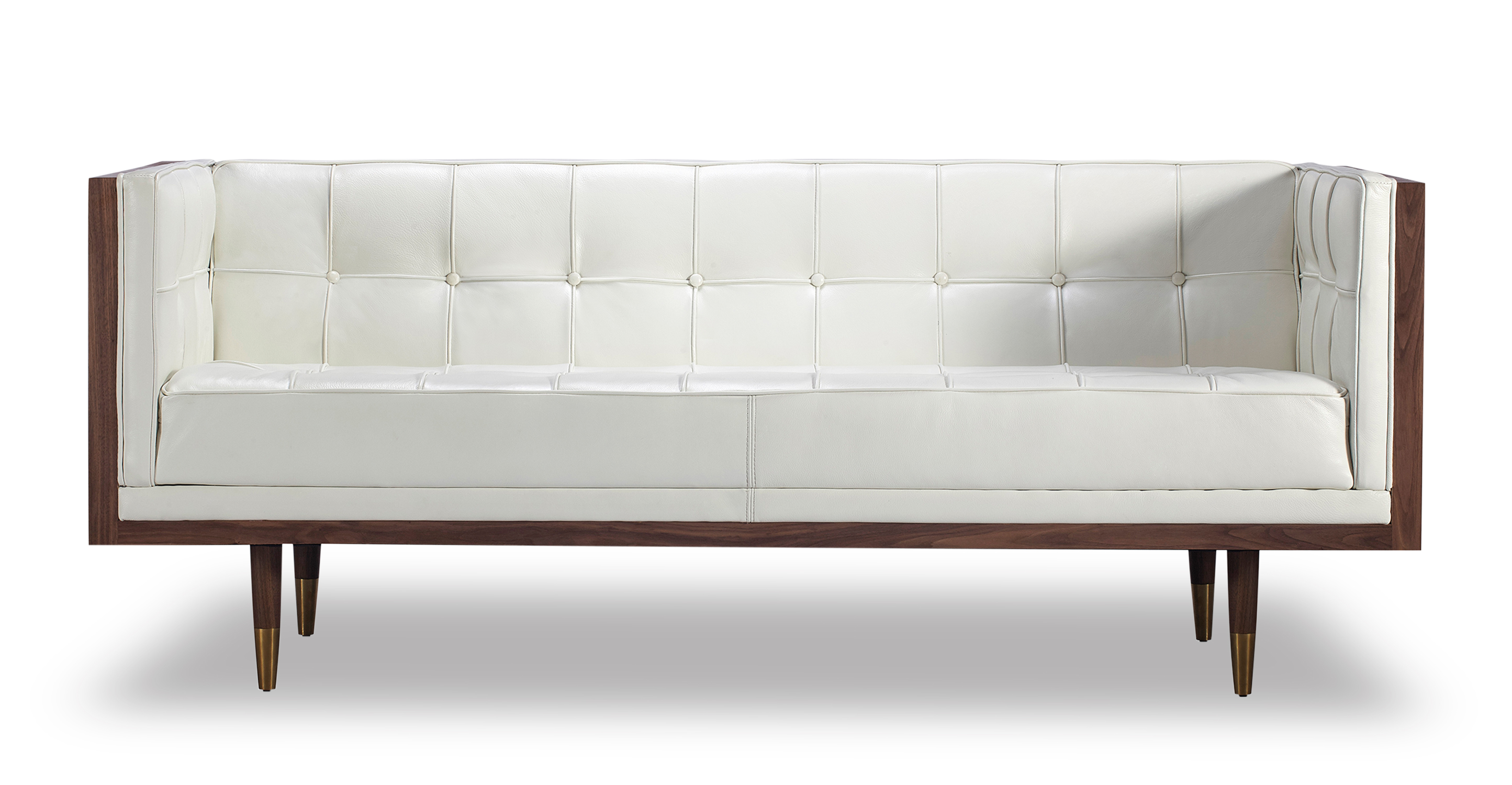 Small leather loveseat