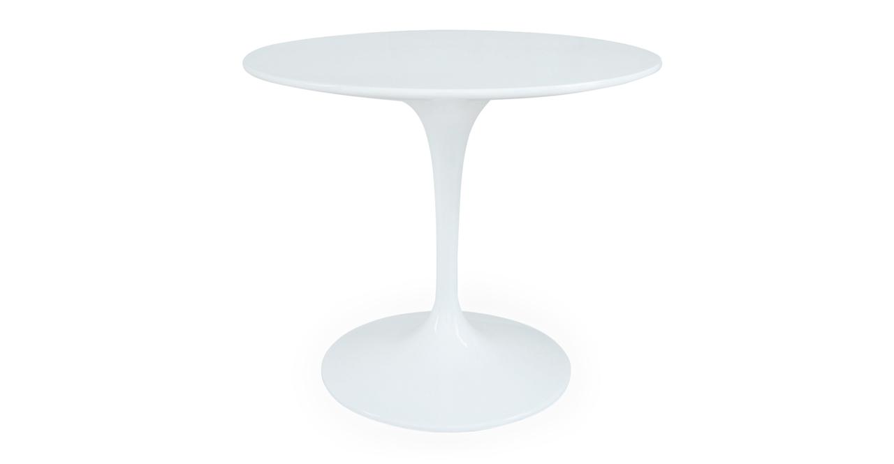 """Kardiel Tulip Style Round Table White Fiberglass, 36"""" Dia..."""