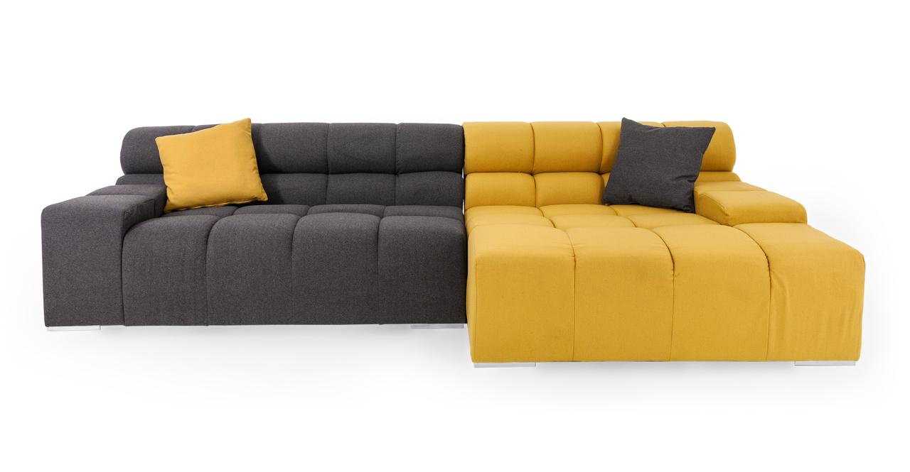 Cubix modern modular sofa sectional right arylide for Modern modular sectional puzzle sofa
