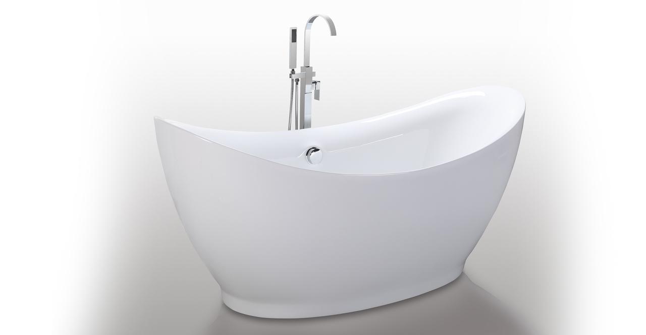Helixbath eleusis freestanding bathtub 68 w round for Free standing soaking tub