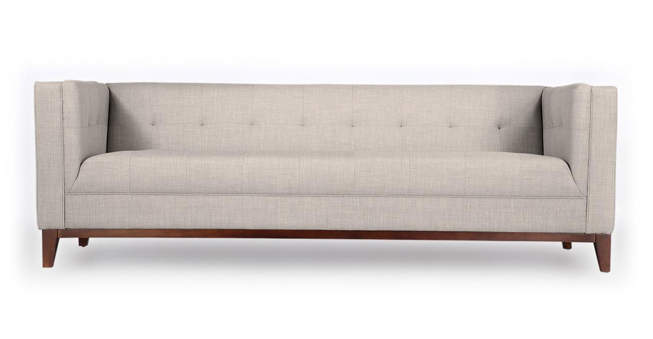 Kardiel Harrison Mid-Century Modern Loft Sofa, Dove Grey ...