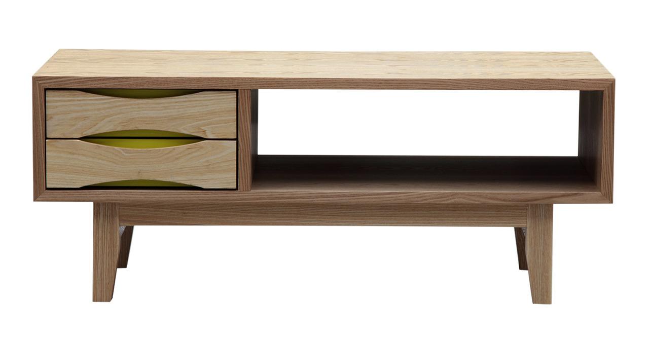 Vodder Moderno Media Tv Cabinet Modern Coffee Table Natural Ash Wood Ebay