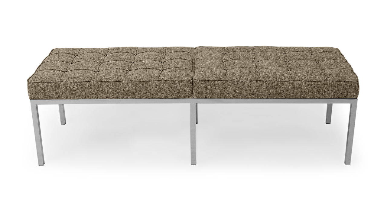 Kardiel Florence Knoll Style Bench 3 Seater, Oatmeal Houn...