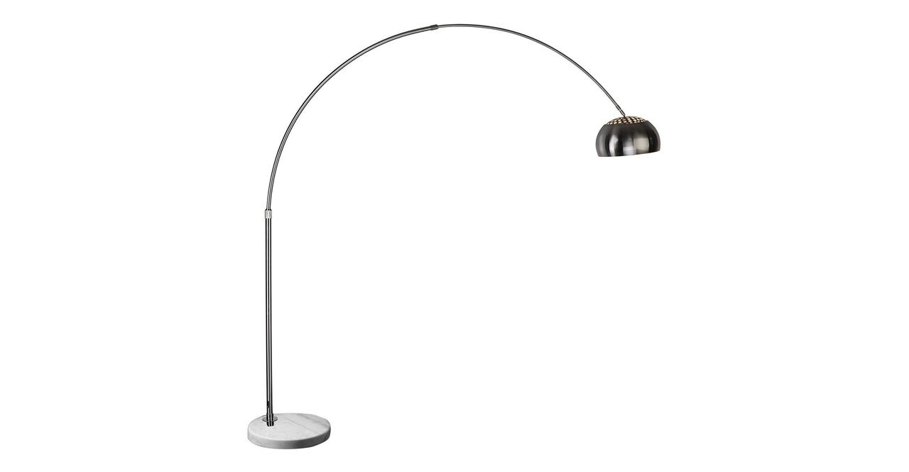 Kardiel Arco Style Floor Lamp, White Marble Round Base