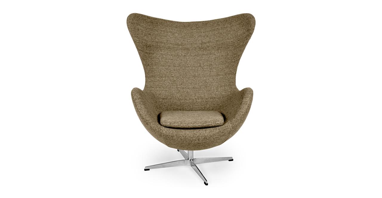 Kardiel Egg Chair, Oatmeal Houndstooth Twill