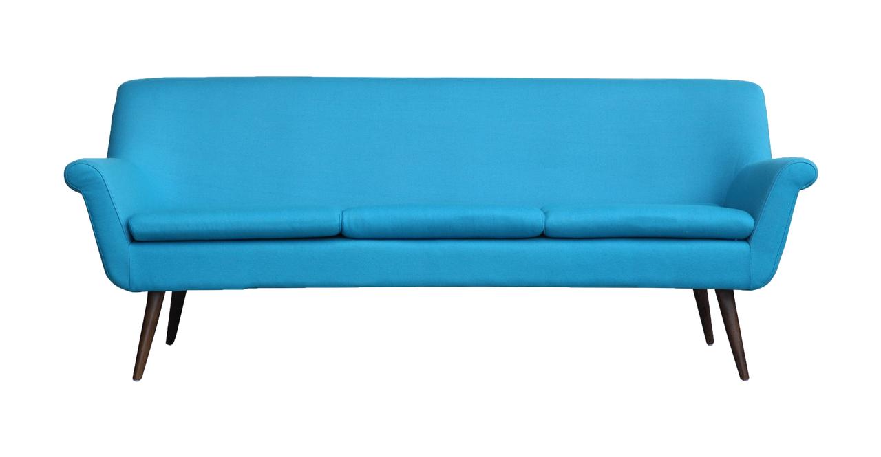 Kardiel Murphy Midcentury Modern 3-Seat Sofa, Norton Cash...