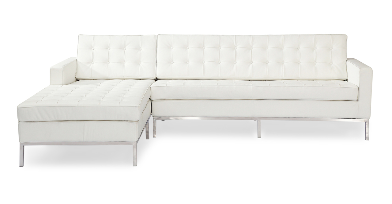 Kardiel Florence Knoll Style Sofa Sectional Left, Cream W...