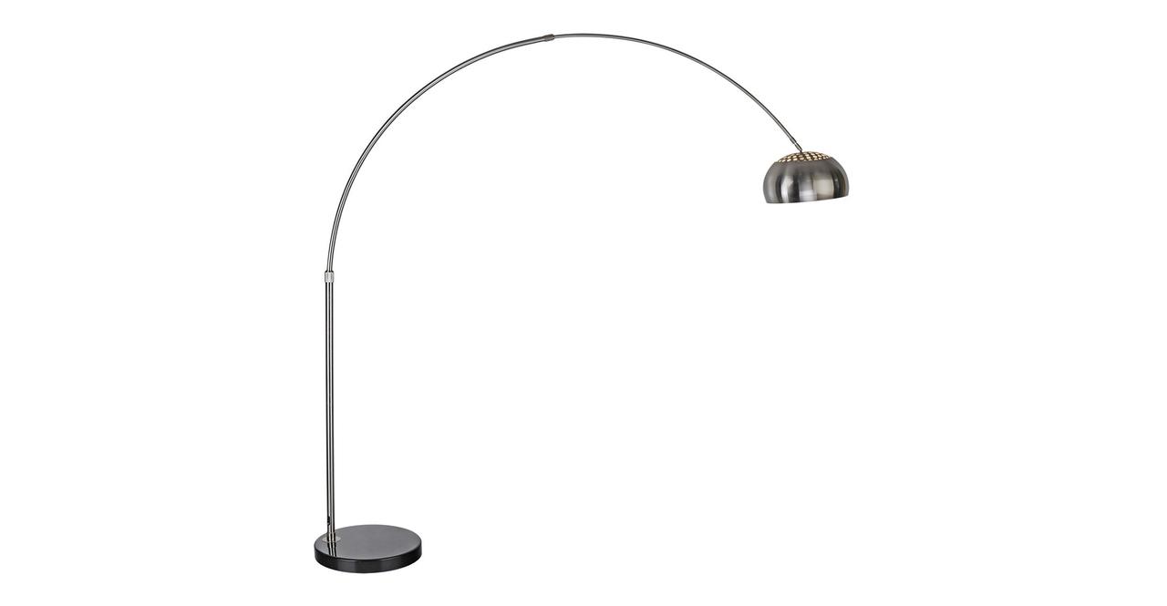 Kardiel Arco Style Floor Lamp, Black Marble Round Base