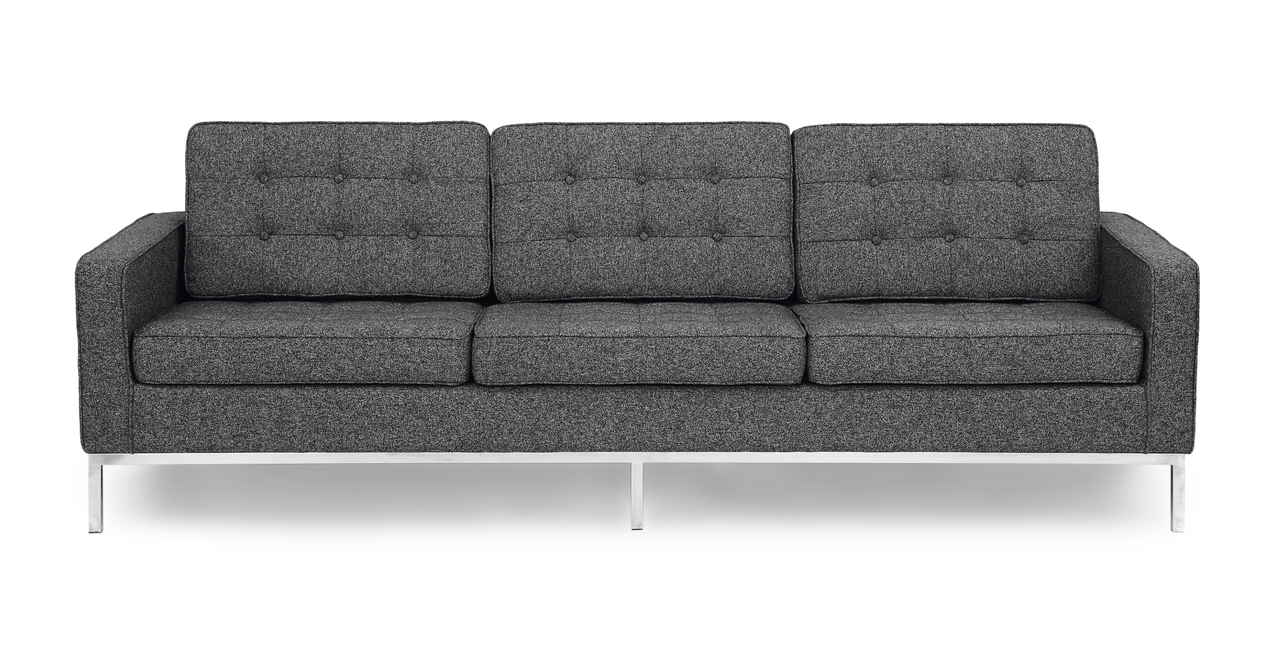 Kardiel Florence Knoll Style Sofa 3 Seat, Carbonite Hound...