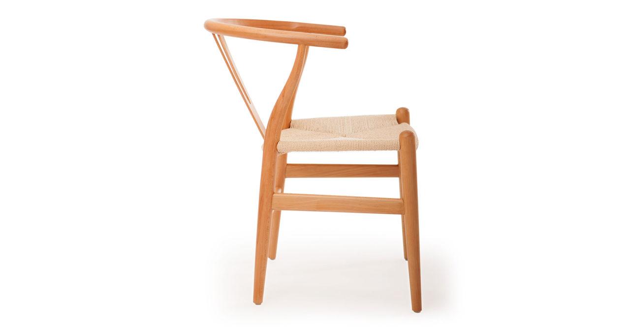 Wegner style wishbone y dining chair natural frame natural seat ebay - Wishbone chair canada ...