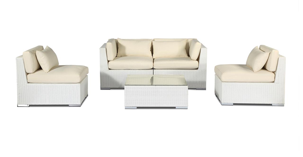 Modern Patio Outdoor Furniture Loveseat/Sofa Modify-It Al...