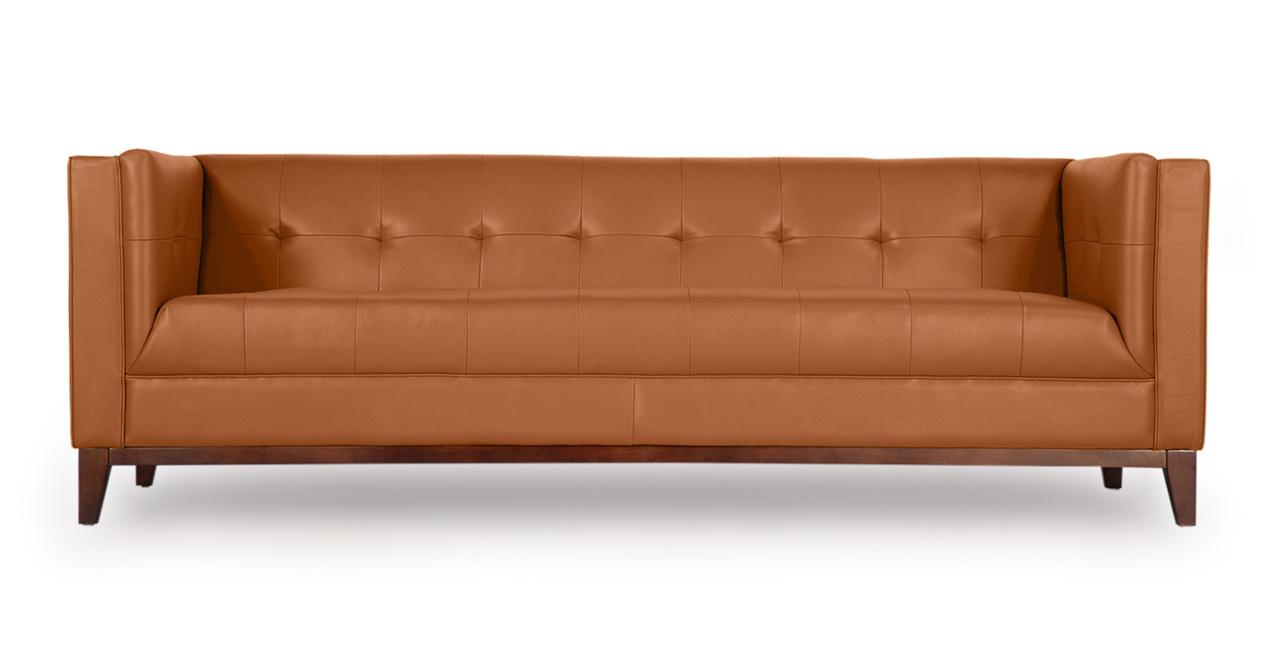 Kardiel Harrison Mid-Century Modern Loft Sofa, Saddle Bro...