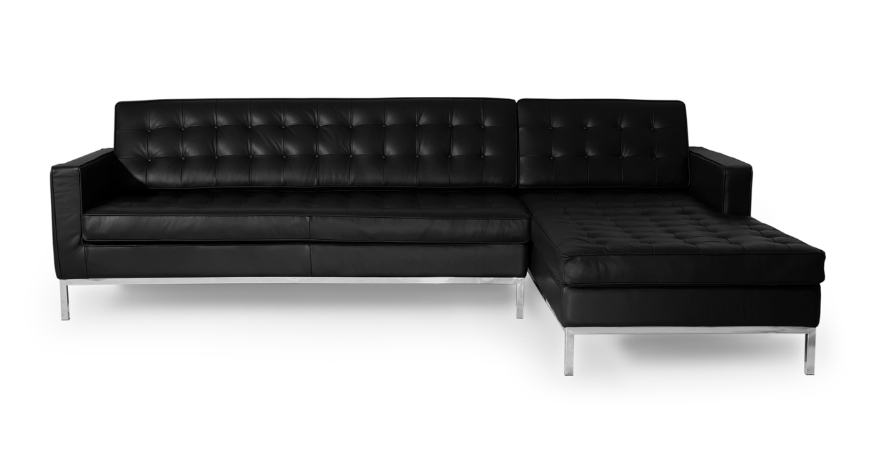 Kardiel Florence Knoll Style Sofa Sectional Right, Black ...