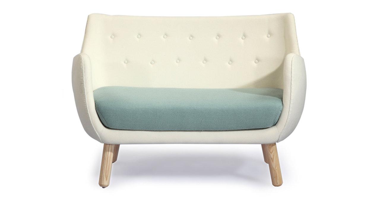 Kardiel 1946 Parlor Mid-century Modern Sofa, Beige/ Surf ...