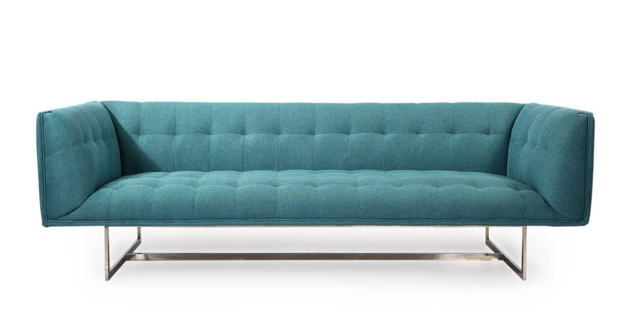Kardiel Edward Mid-Century Modern Classic Sofa, Dutch Blu...