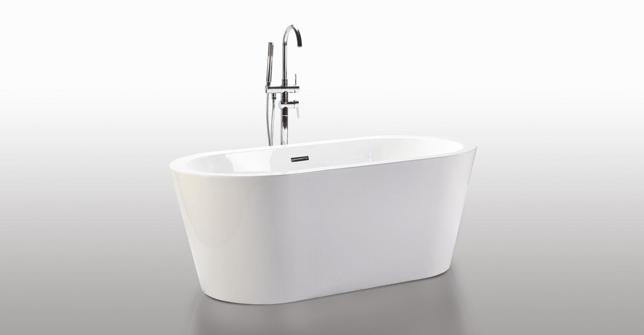 HelixBath Pella Freestanding Acrylic Contemporary Bathtub...
