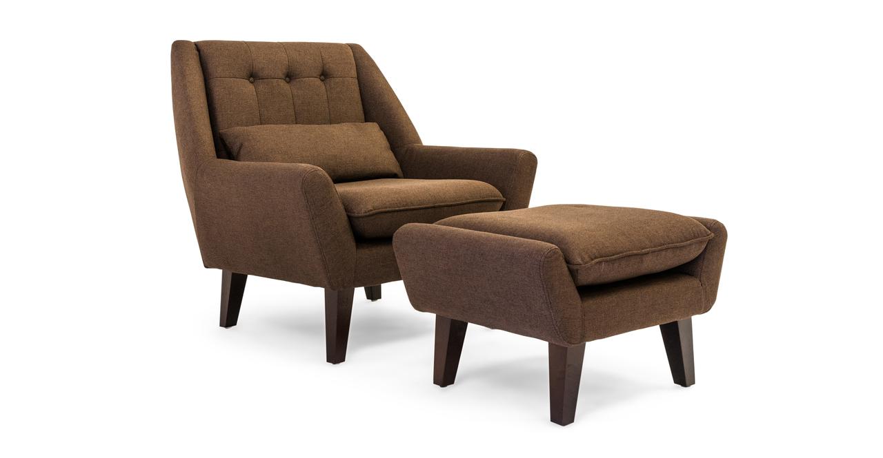 Kardiel Stuart Mid-century Modern Lounge Chair & Ottoman,...