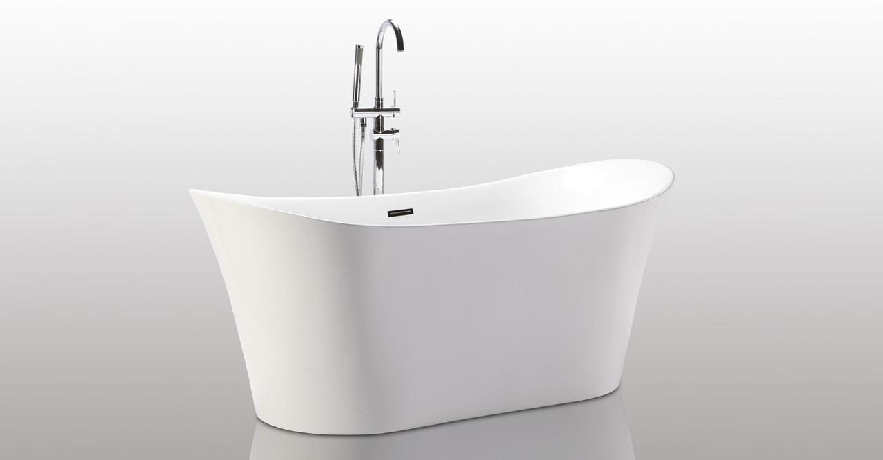 HelixBath Amathous Freestanding Pedestal Acrylic Bathtub ...