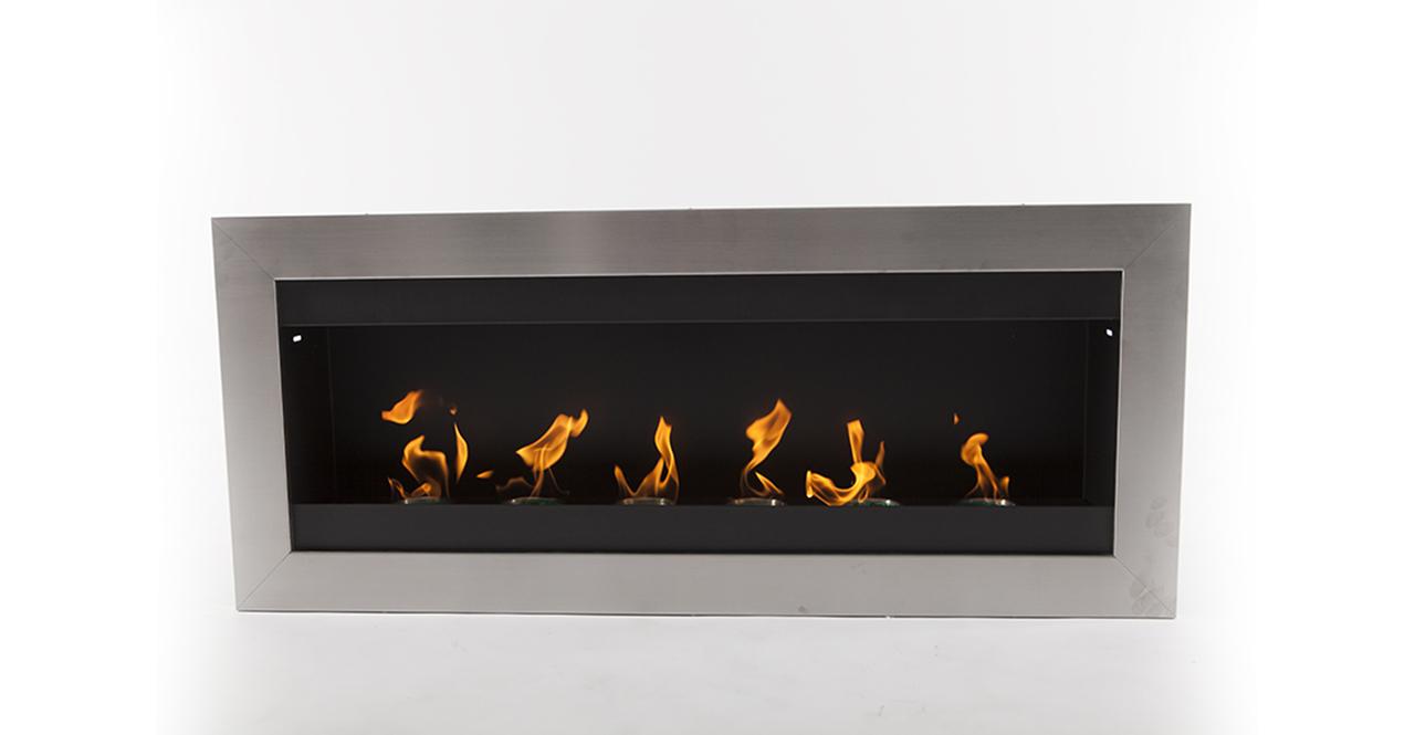 "EcoPyro SF-01 Hogadon Wall Inserted Ethanol Fireplace 47""..."