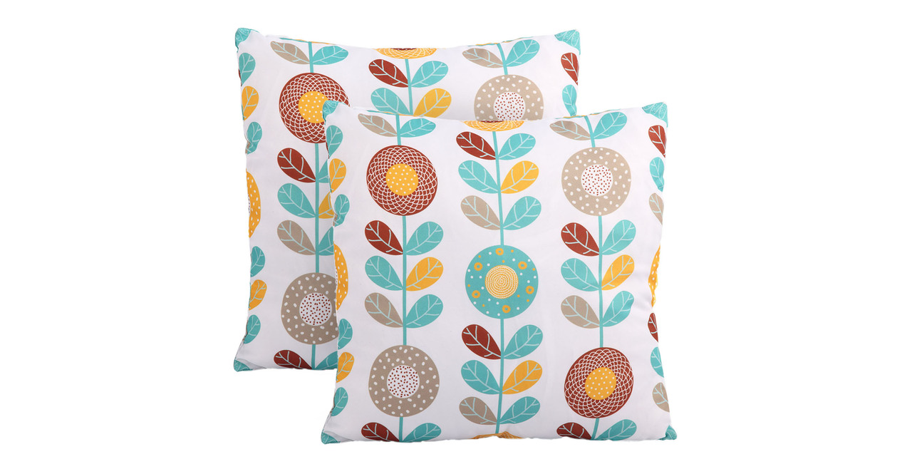 Kardiel Modern Throw Accent Pillows Set of 2, Copa Cabana...