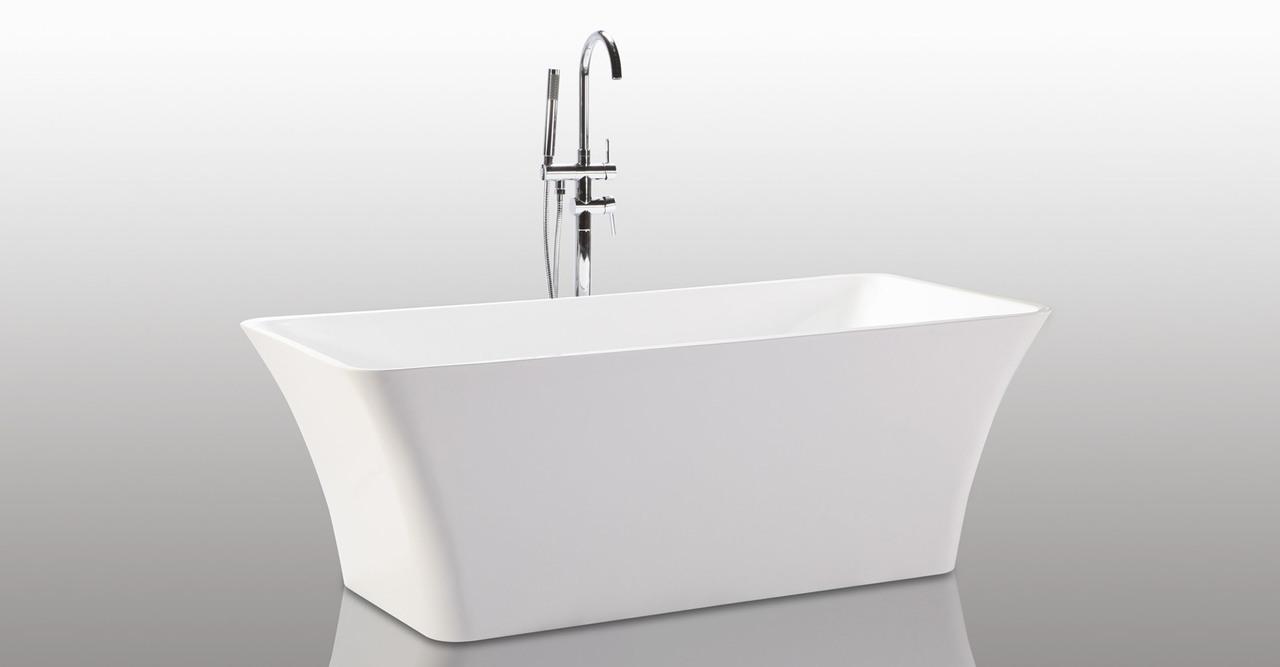 "HelixBath Parva Freestanding Acrylic Modern Bathtub 67"" W..."