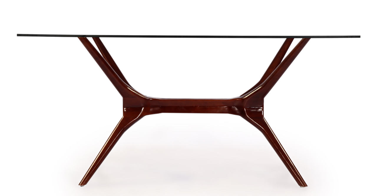 Kardiel Sputnik Mid-Century Modern Dining Table, Walnut L...