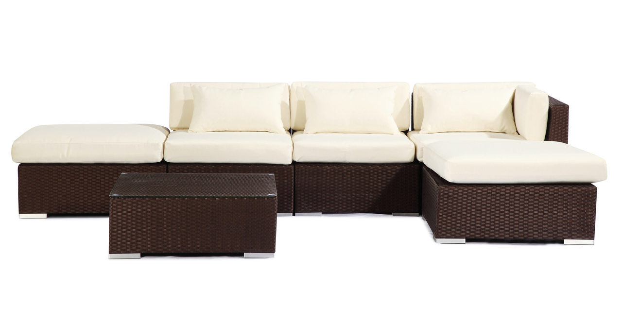 Outdoor Furniture Patio Sofa Sectional Chaise Modify-It A...