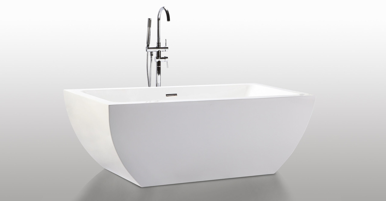 HelixBath Velia Freestanding Contemporary Acrylic Bathtub...