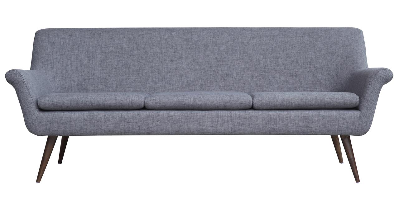 Murphy Midcentury Modern 3 Seat Sofa Kensington Tailored Twill EBay