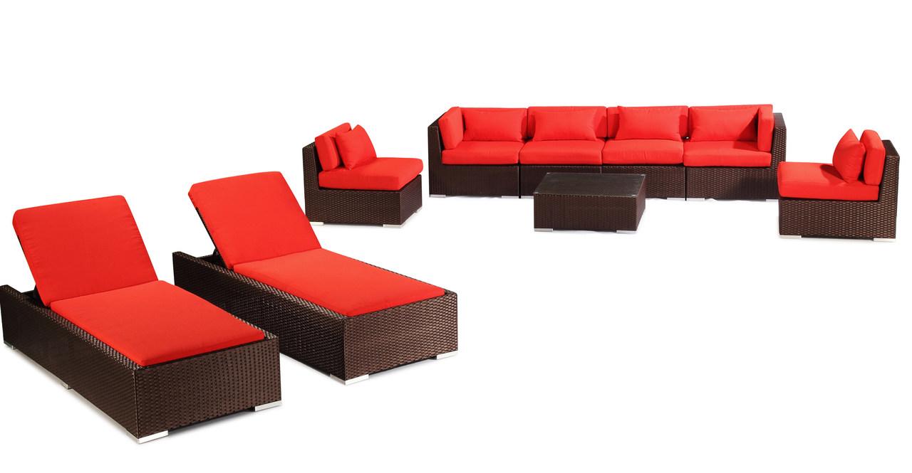 Outdoor Patio Furniture Modify-It Aloha Maui 9-pc Sofa Se...