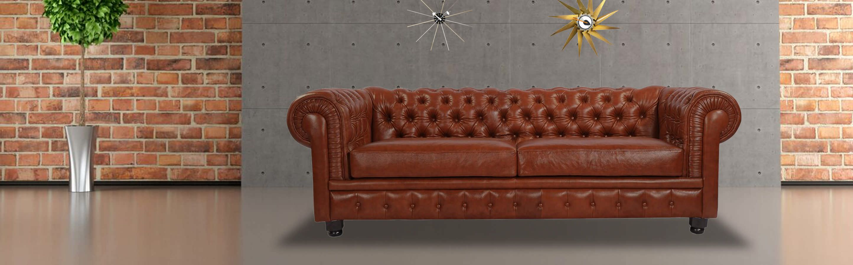 Modern Chesterfield tufted furniture fabric and leather sofa club ...