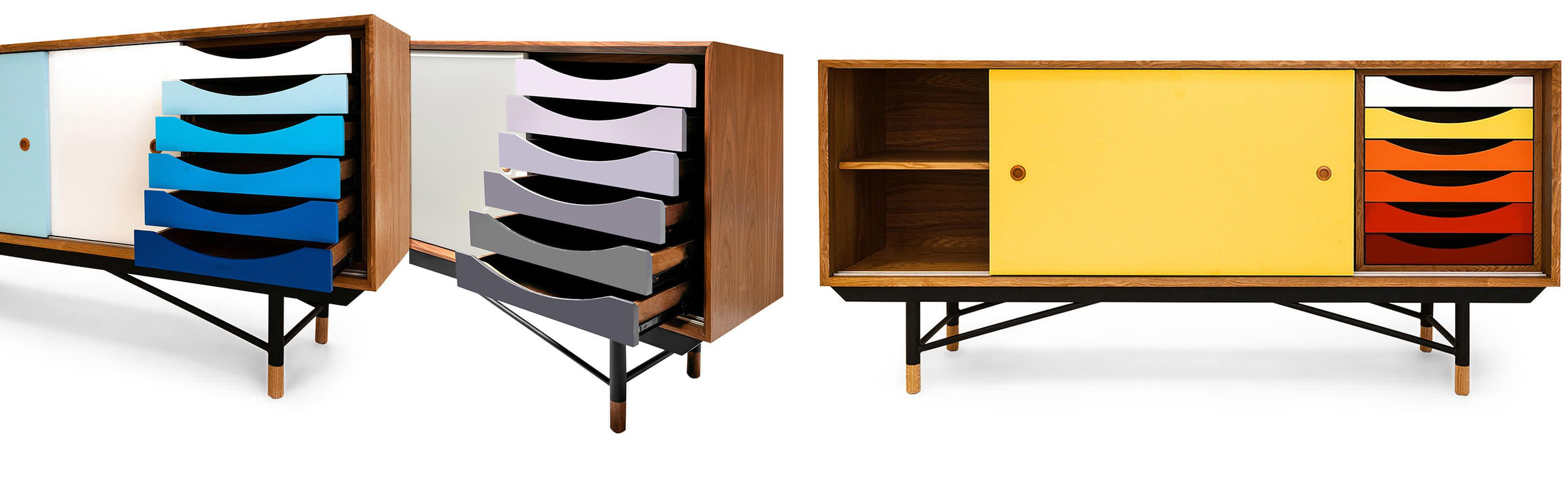 Color Theory Mid Century Modern Sideboard width=